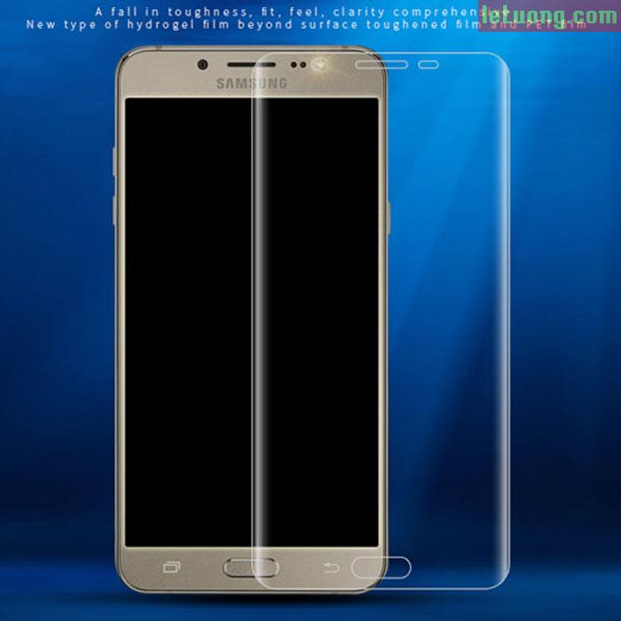 Miếng dán full màn hình Galaxy J7 Pro Vmax 3D Curved TPU trong suốt