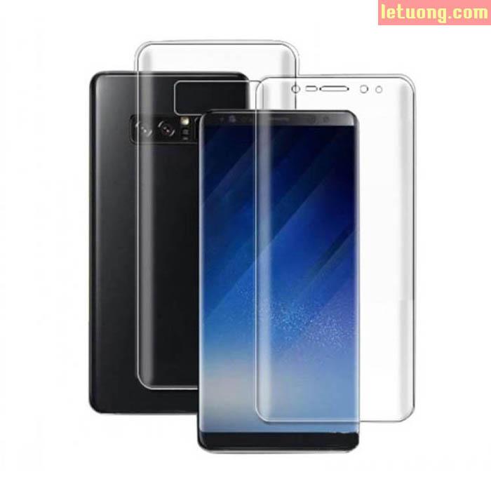 Combo 2 miếng dán màn hình Galaxy Note 8 Gor 3D Full TPU + mặt lưng