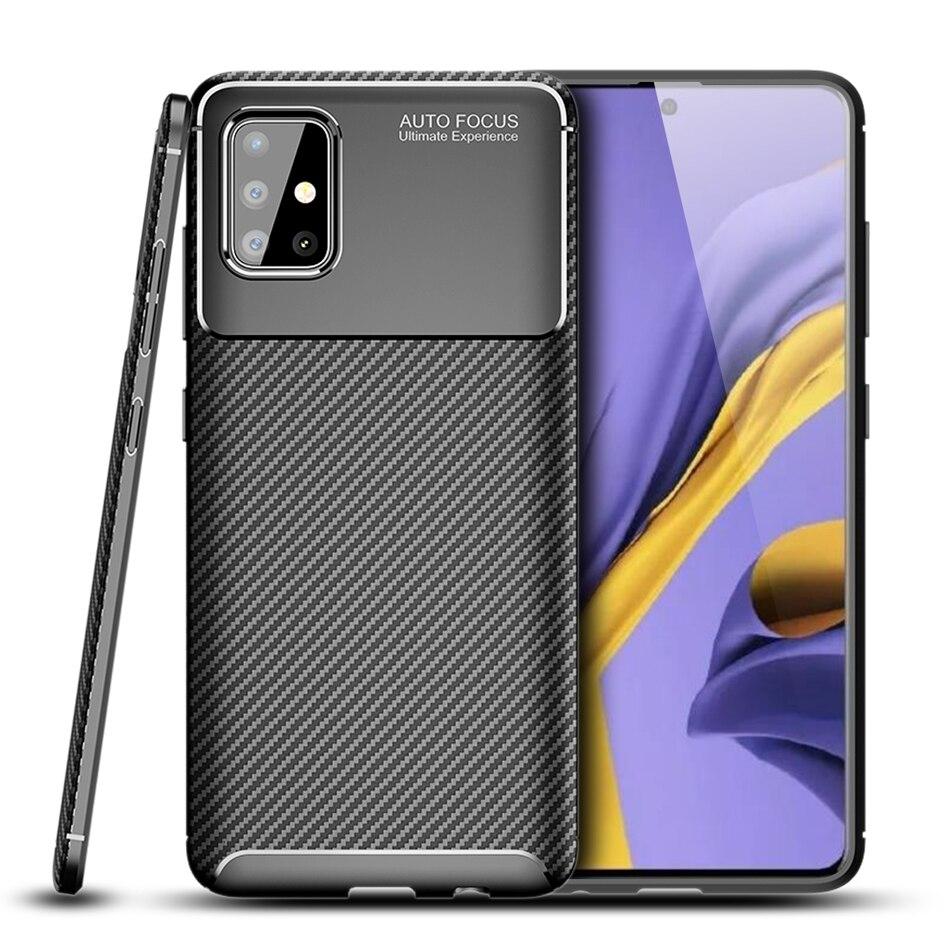 Ốp lưng Galaxy A71 LT Carbon Fiber Case chống bám vân tay