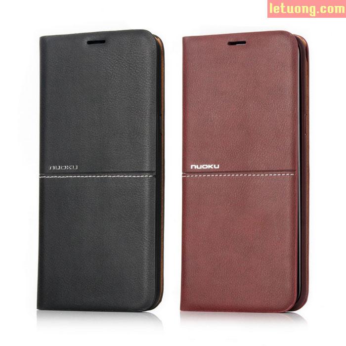 Bao da Galaxy S8 Plus Nuoku Exclusive Leather khung mềm, da thật