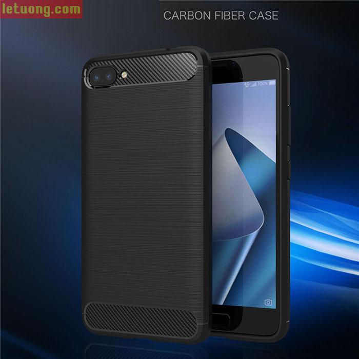 Ốp lưng Zenfone 4 Max Pro Viseaon Rugged Armor Carbon nhựa mềm