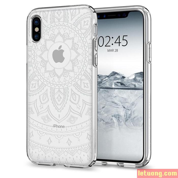 Ốp lưng iPhone X / Iphone Xs Spigen Liquid Crystal Shine ( USA ) + tặng dán lưng Carbon