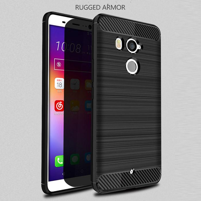 Ốp lưng HTC U11 Plus Viseaon Rugged Armor Carbon nhựa mềm