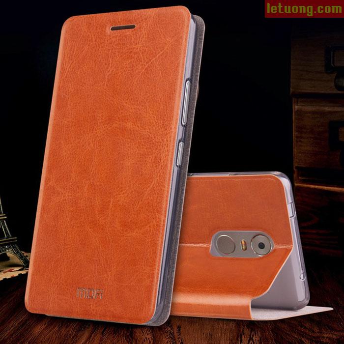 Bao da Lenovo K6 Note Mofi Leather khung mềm siêu mỏng