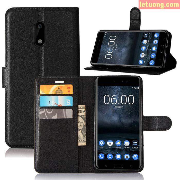 Bao da Noki 6 LT Flip wallet đa năng khung nhựa mềm chống sốc