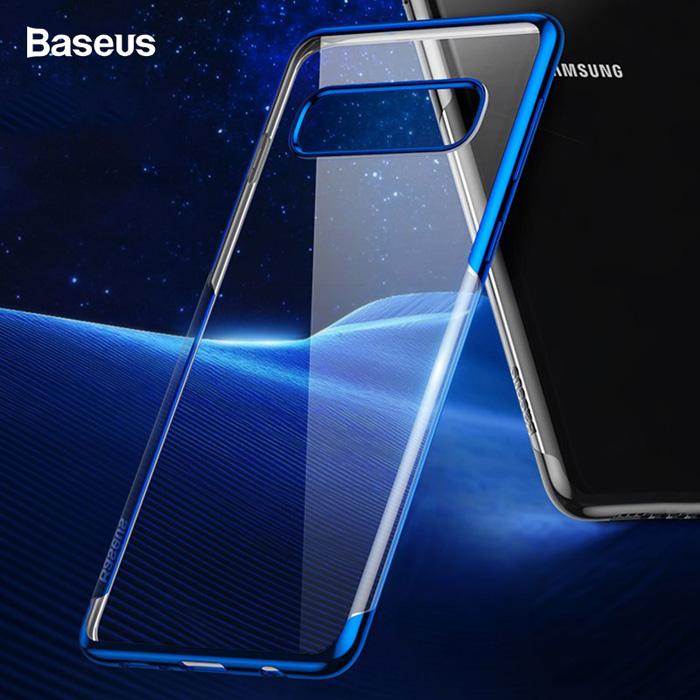Ốp lưng Galaxy S10 Plus Baseus Plating Case viền mạ Crom sáng bóng