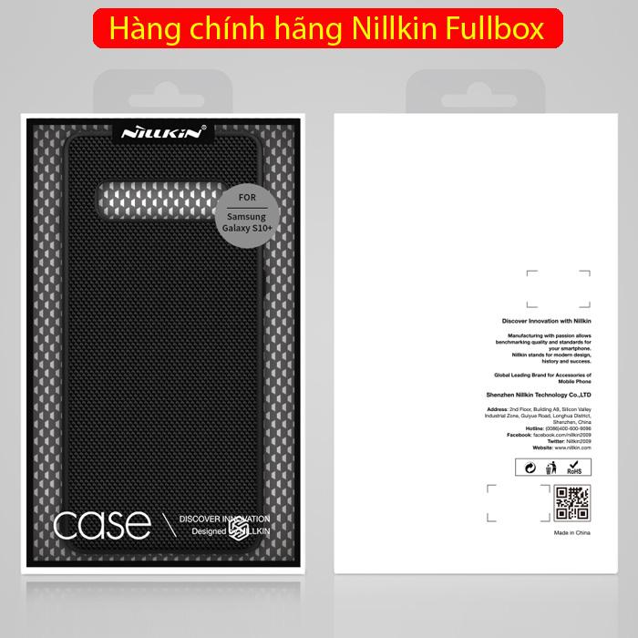 Ốp lưng Galaxy S10 Plus Nillkin Texture 3D Case sợi Nylon siêu mỏng