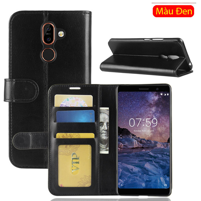 Bao da Nokia 7 Plus  LT Wallet Leather dạng ví đa năng - khung mềm