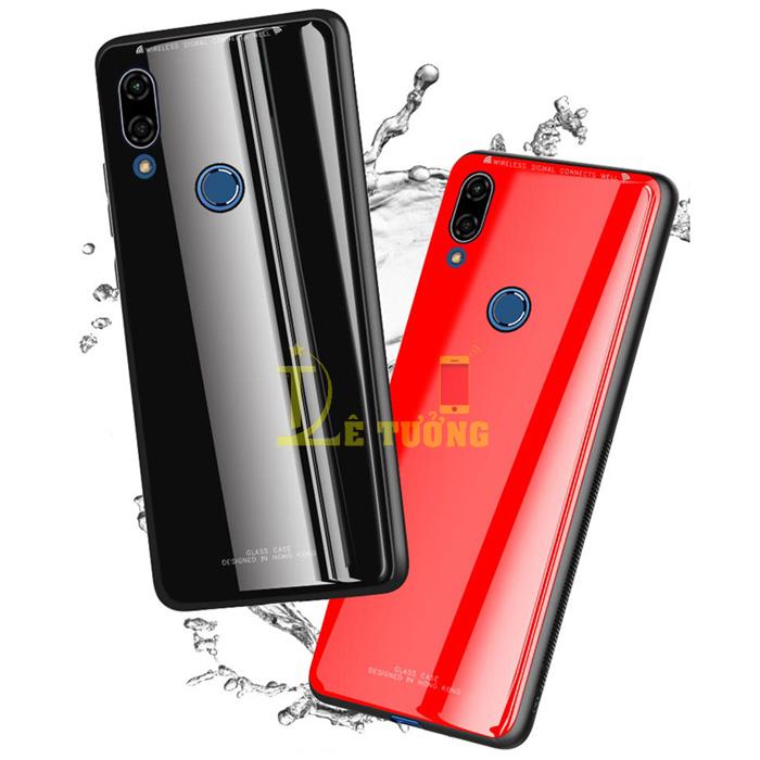 Ốp lưng Huawei Nova 3E LT Glass Case 9H lưng kính cường lực