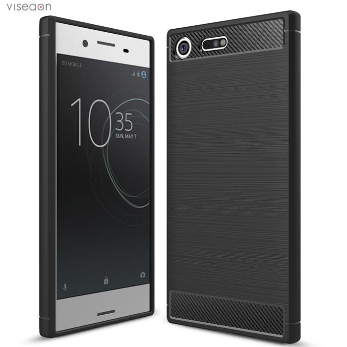 Ốp lưng Sony XZ Premium Viseaon Rugged Armor Carbon nhựa mềm
