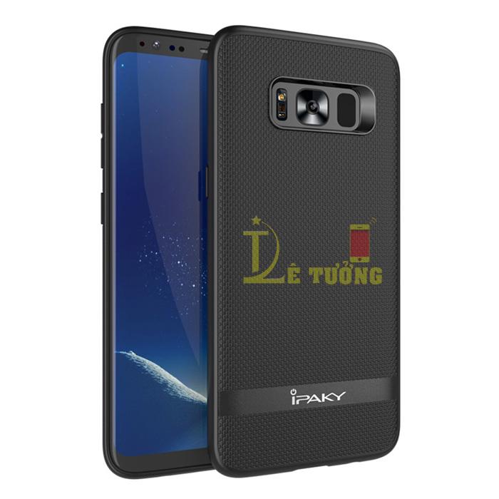 Ốp lưng Galaxy S8 Plus Ipaky Leather Skin Case chống vân tay