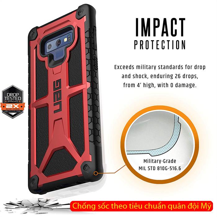 Ốp lưng Galaxy Note 9 UAG Monarch 5 lớp chống sốc ( hàng USA )