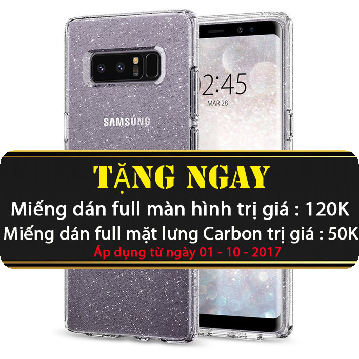 Ốp lưng Galaxy Note 8 Spigen Liquid Crystal Glitter ( USA )