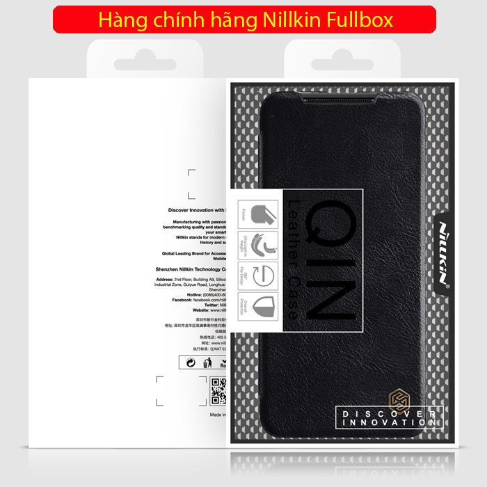 Bao da Note 20 Ultra / 5G Nillkin Qin Leather sang trọng - cổ điển