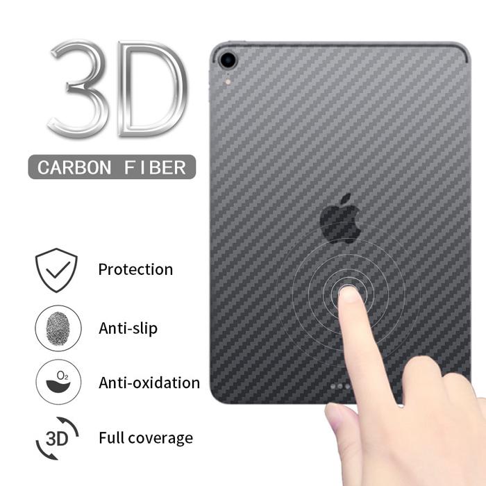 Miếng dán mặt lưng VIỀN iPad 10.2 inch 2019 vân Carbon 3D - chống vân tay