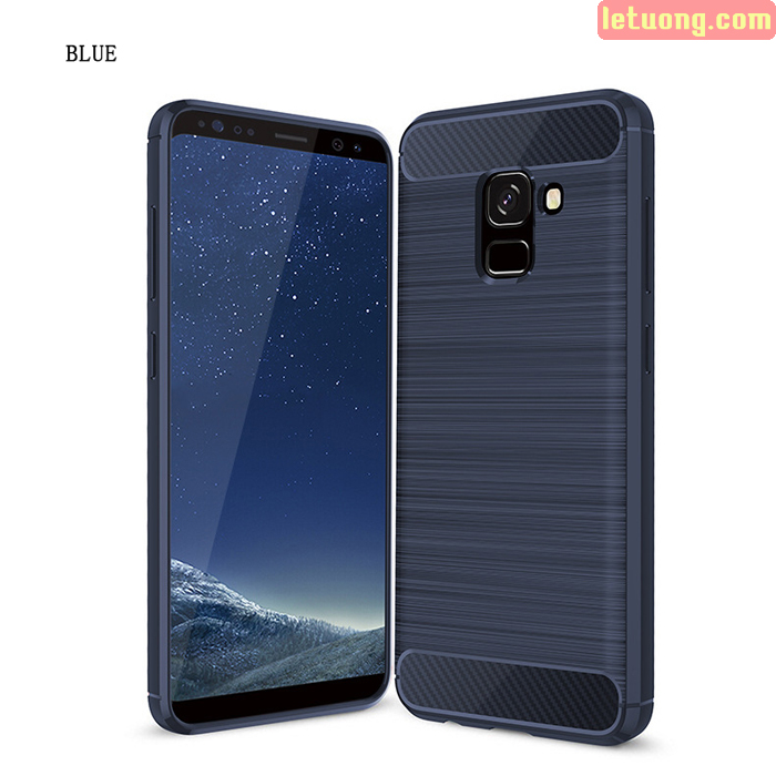 Ốp lưng Galaxy A8 Plus 2018 Viseaon Rugged Armor Carbon nhựa mềm