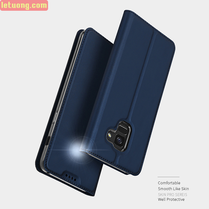 Bao da Galaxy A8 2018 Dux Ducis Skin siêu mỏng, khung mềm