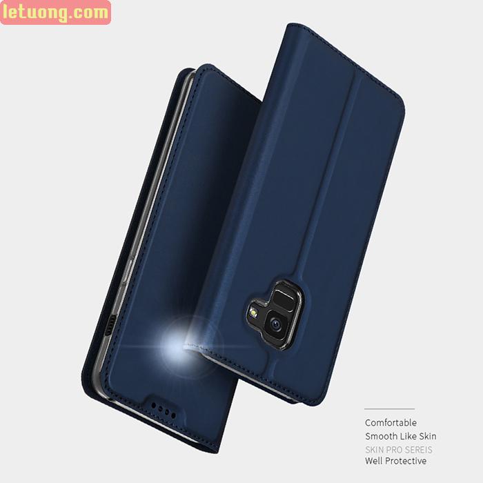 Bao da Galaxy A8 Plus 2018 Dux Ducis Skin siêu mỏng, khung mềm