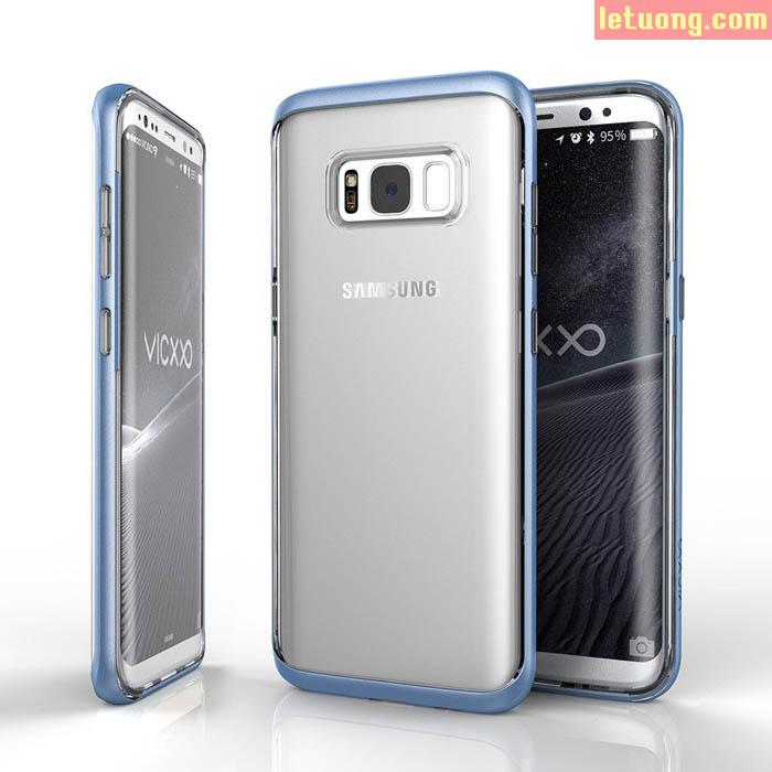 Ốp lưng Galaxy S8 Vicxxo Air Mix Case viền kép lưng trong suốt