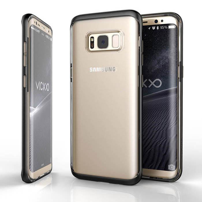 Ốp lưng Galaxy S8 Plus Vicxxo Air Mix viền kép lưng trong suốt