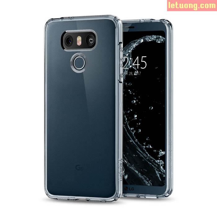 Ốp lưng LG G6 Spigen Ultra Hybrid Crystal trong suốt chống sốc