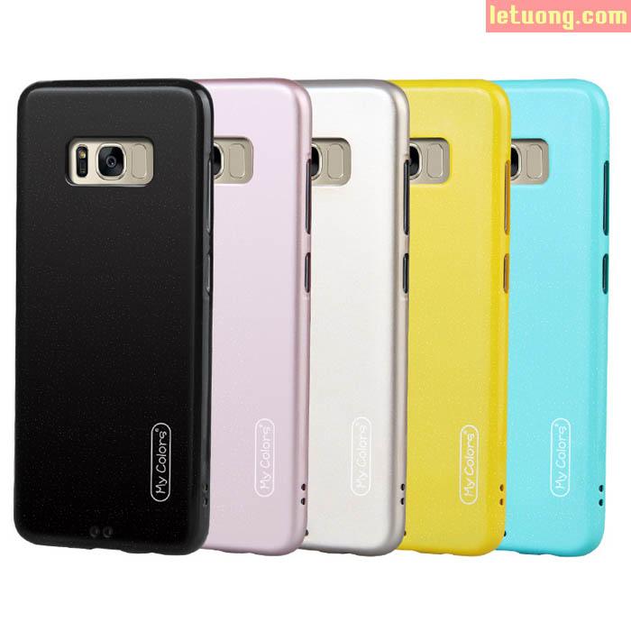 Ốp lưng Galaxy S8 Mycolors Case thời trang nhựa mềm bóng bảy