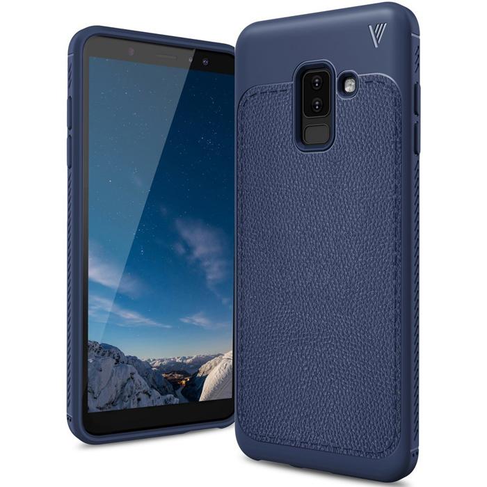 Ốp lưng Galaxy A6 Plus 2018 Lenuo Leshen Serie vân da sang trọng