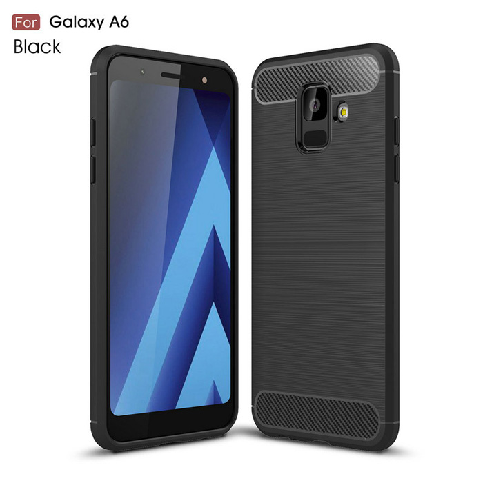 Ốp lưng Galaxy A6 2018 Viseaon Rugged Armor Carbon nhựa mềm - chống sốc
