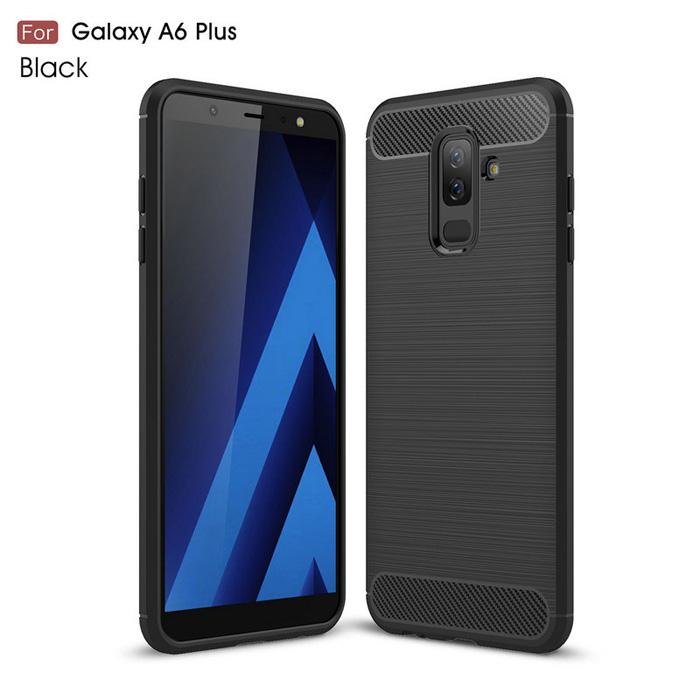 Ốp lưng Galaxy A6 Plus 2018 Viseaon Rugged Armor Carbon nhựa mềm - chống sốc