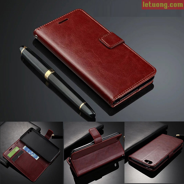 Bao da Oppo F3 LT Wallet Leather đa năng khung mềm chống sốc