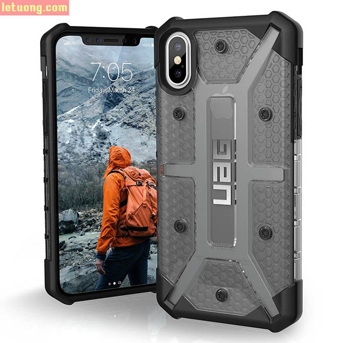 Ốp lưng iPhone X / iPhone Xs UAG Plasma Armor trong suốt, chống sốc ( USA ) + tặng dán lưng Carbon