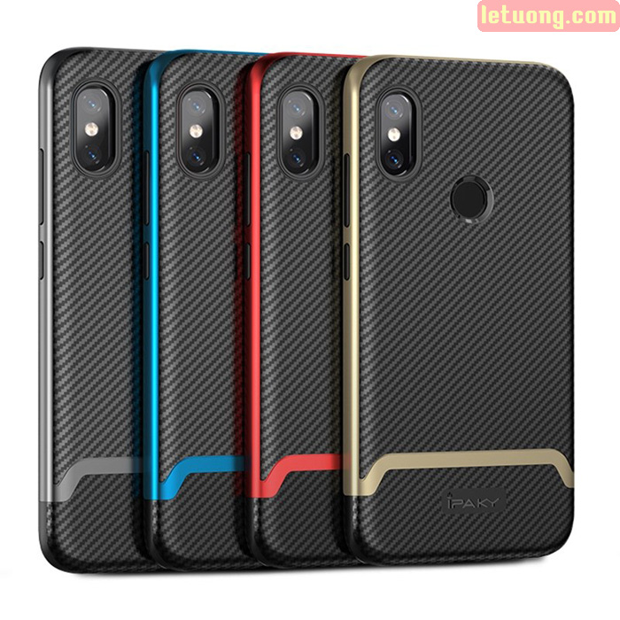 Ốp lưng Xiaomi Note 6 Pro Ipaky Neo Hybrid viền kép chắc chắn