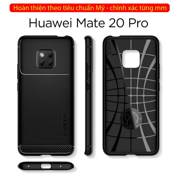 Ốp lưng Huawei Mate 20 Pro Spigen Rugged Armor nhựa mềm ( Hàng USA )