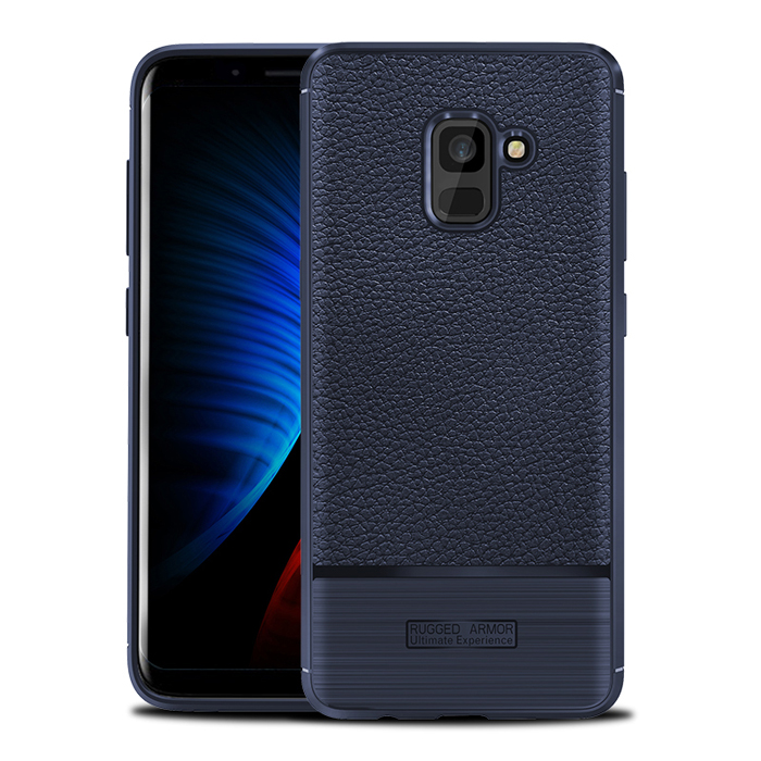 Ốp lưng Galaxy A8 2018 Rugged Armor Ultimate Experience vân da, vân carbon