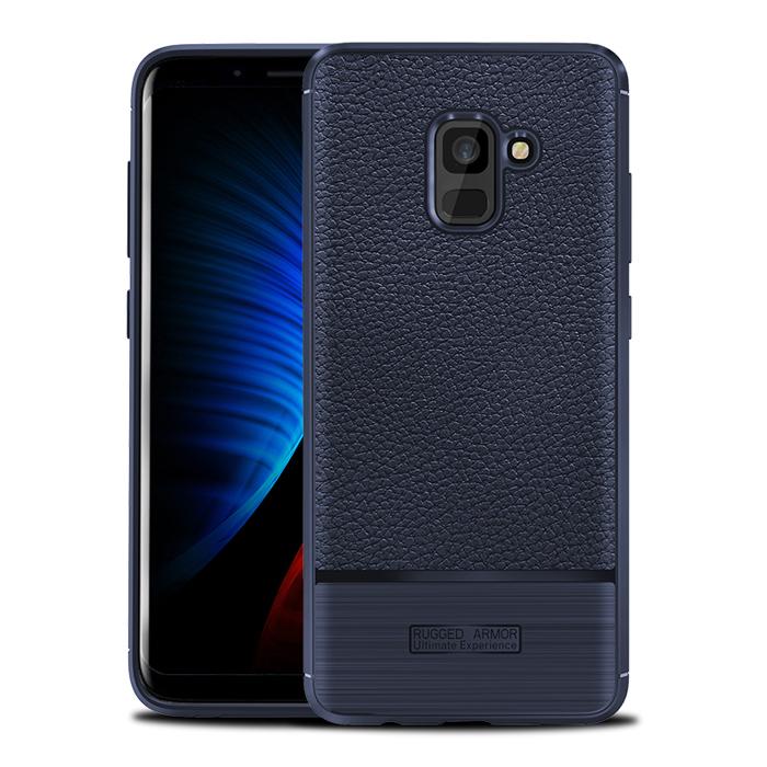 Ốp lưng Galaxy A8 2018 Rugged Armor Ultimate Experience vân da, vân carbon
