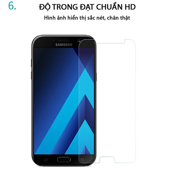 Kính cường lực Galaxy A5 2017 Tung Pro+ vát viền 2.5D cứng 9H