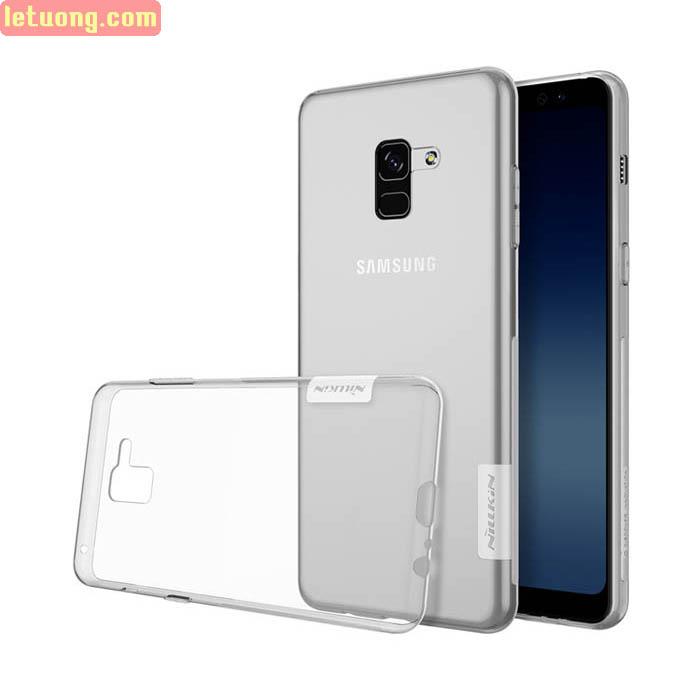 Ốp lưng Galaxy A8 Plus 2018 Nillkin Nature TPU trong suốt 0,6mm