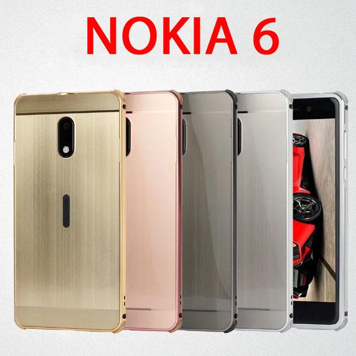 Ốp lưng Nokia 6 LT Metal nhôm phay sang trọng chống sốc
