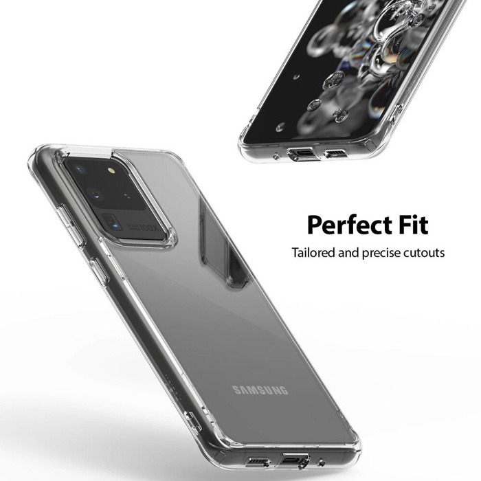 Ốp lưng Galaxy S20 Ultra Ringke Fusion trong suốt + viền mềm ( USA )