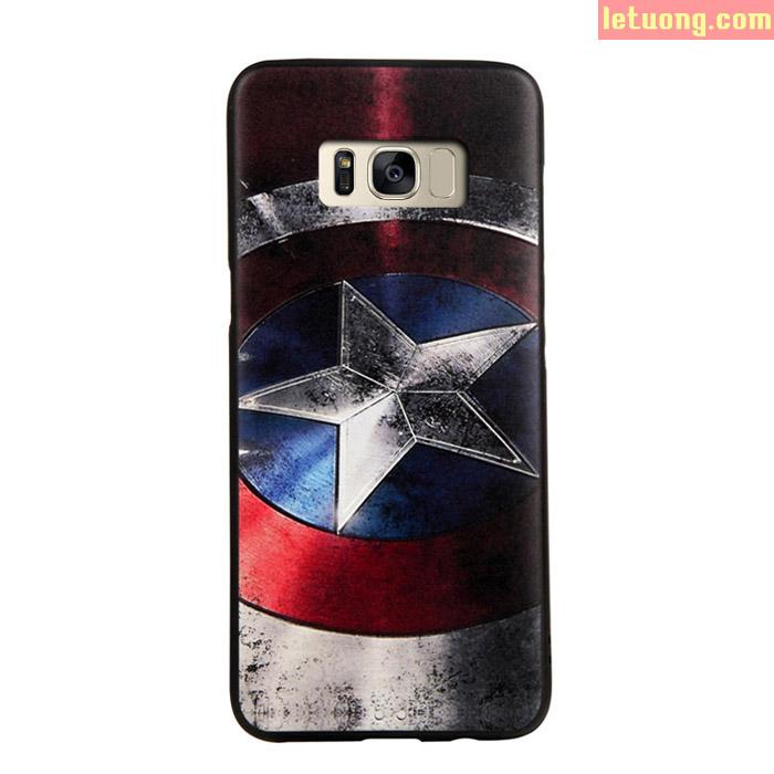 Ốp lưng Galaxy S8 Plus Mycolors Avengers dập nổi 3D + dán lưng Carbon