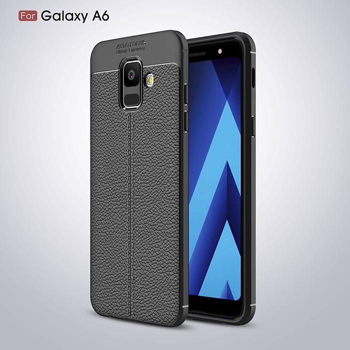 Ốp lưng Galaxy A6 2018 LT Leather Design Case vân da chống sốc