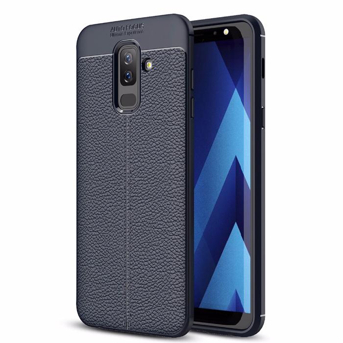 Ốp lưng Galaxy A6 Plus 2018 LT Leather Design Case vân da chống sốc