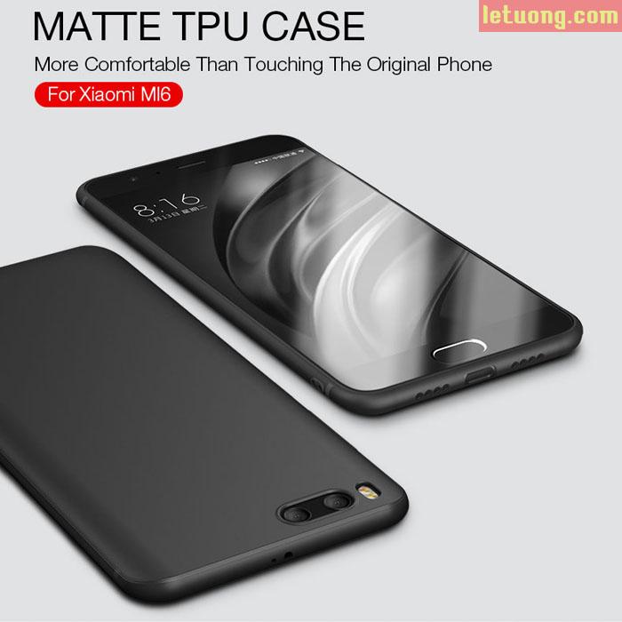 Ốp lưng Xiaomi Mi6 Cafele Matte TPU Case nhựa dẻo thời trang