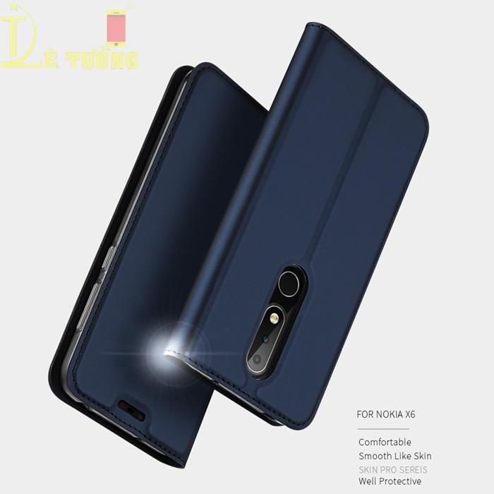 Bao da Nokia X6 2018 / Nokia 6.1 Plus Dux Ducis Skin siêu mỏng - khung mềm - Siêu êm