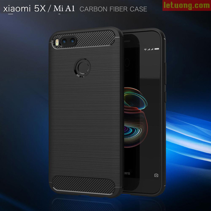 Ốp lưng Xiaomi Mi A1 ( Mi 5X ) Viseaon Rugged Armor Carbon nhựa mềm