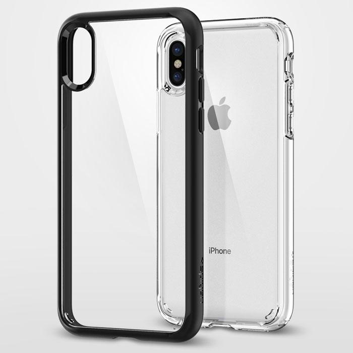Ốp lưng iPhone X / iPhone Xs Spigen Ultra Hybrid ( USA ) + tặng dán lưng Carbon