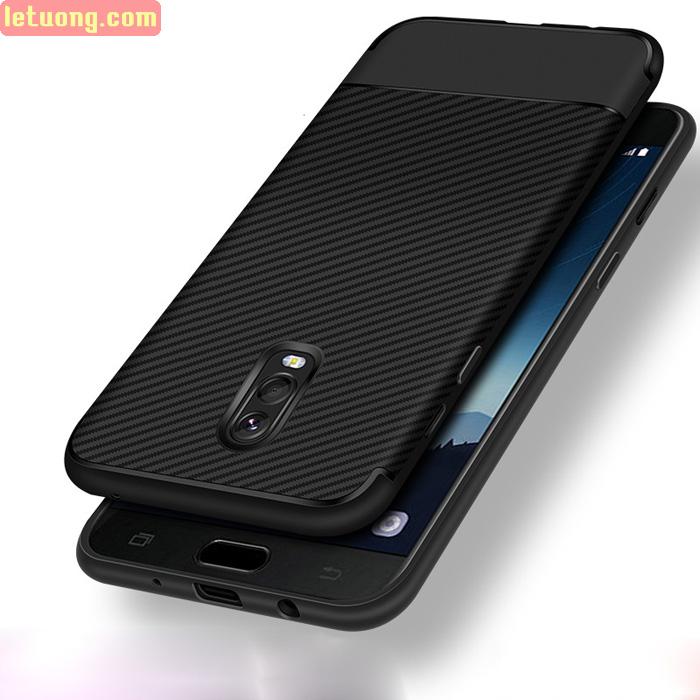 Ốp lưng Galaxy J7 Plus LT Carbon Fiber TPU chống vân tay