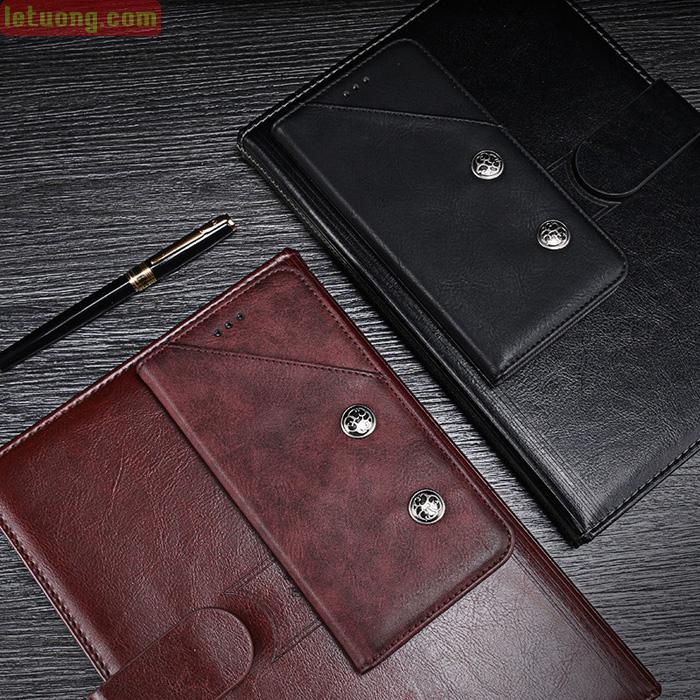 Bao da Galaxy A9 2018 Ourhan Leather Card sang trọng - cổ điển