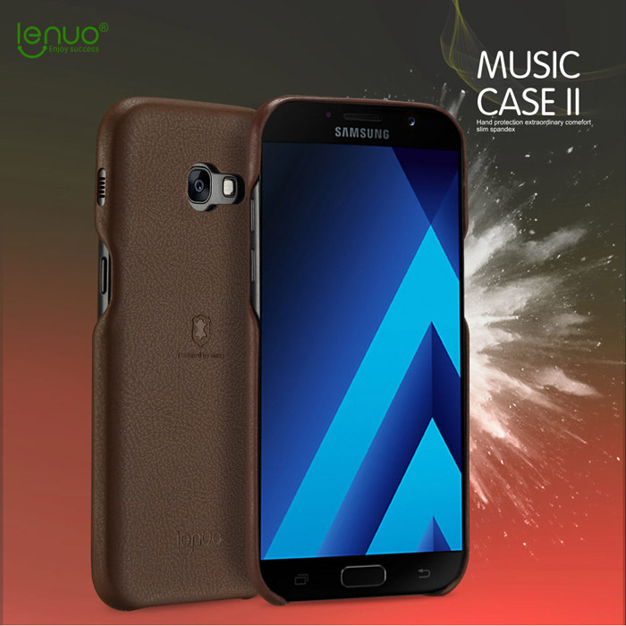 Ốp lưng Galaxy A7 2017 Lenuo Leather lưng da sang trọng