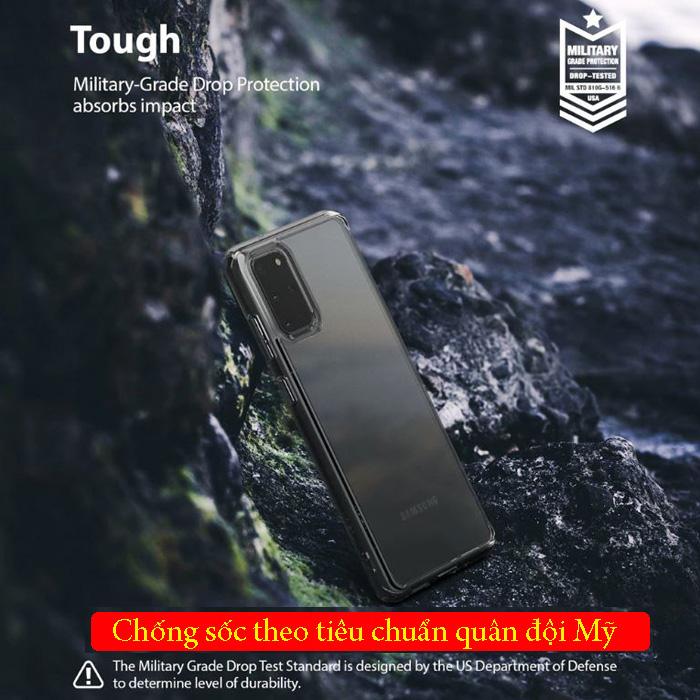 Ốp lưng Galaxy S20 Plus Ringke Fusion trong suốt + viền mềm ( USA )
